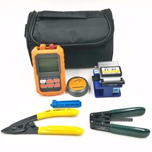 3 in1 Optical Power Meter+FC-6S FC-6S fiber cleaver Universal fixed length flex wire stripper Combination set