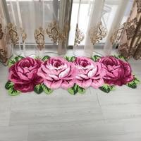 New pink rose carpet for livingroom and bedroom rugs children room floor mat red carpet flower bathroom hallway absorption rug
