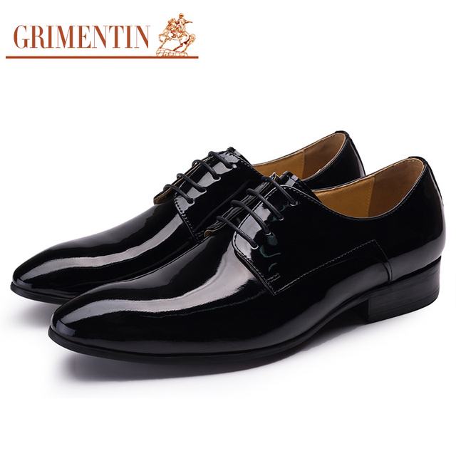 Grimentin Brand Top Quality Italian Mens Dress Shoes Patent Leather