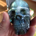 356g AAA+++ Unque Special High Quality Labradorite Natural Crystal Skull Reiki feng shui Crafts
