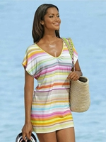 Good quality of Europe and the United States women's new summer big yards short stripe dress firm offers
