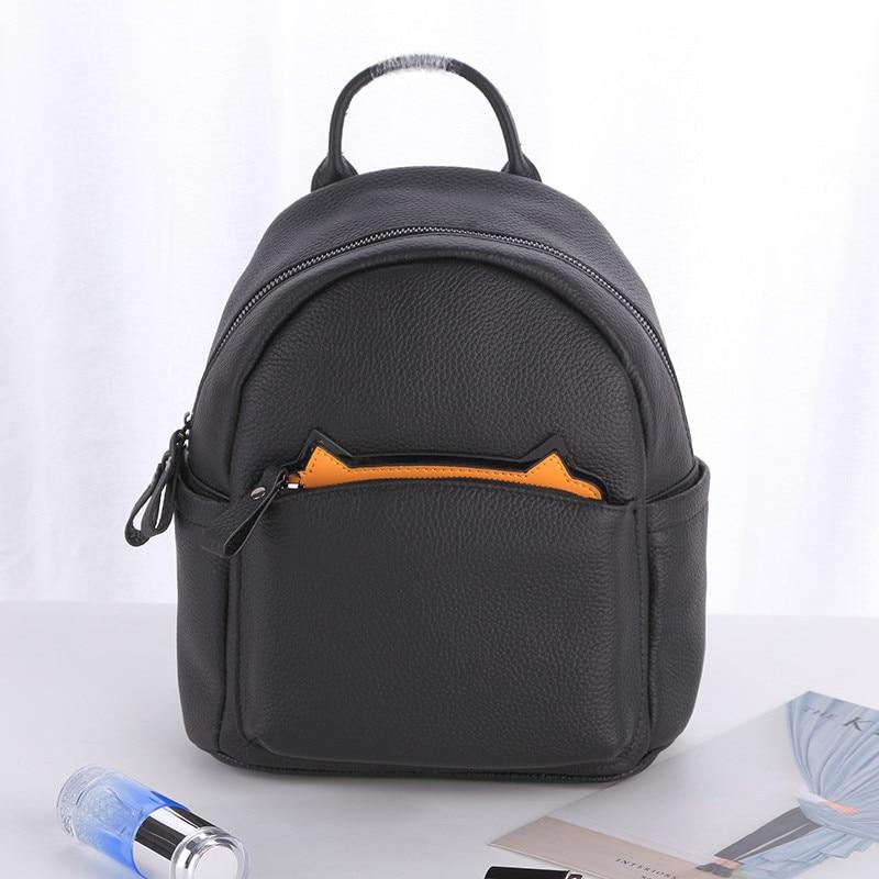 Здесь можно купить  Women Backpack Fashion Casual Cute Genuine Leather Shoulder Bag For Girls Small Backpack Bags Hot Mulheres Mochila Mochila Mujer  Камера и Сумки