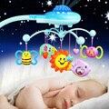 Nuevo sonajero toys con estrellas de proyección de la música campana de la cama giratoria toys niños recién nacidos del bebé niños de navidad regalo de cumpleaños