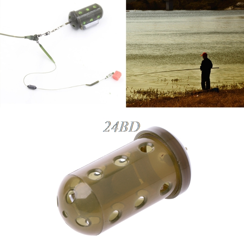 Useful Carp Fishing Feeder Bait Cage Lure Pit Device Basket Holder With Lead 30g M14 image