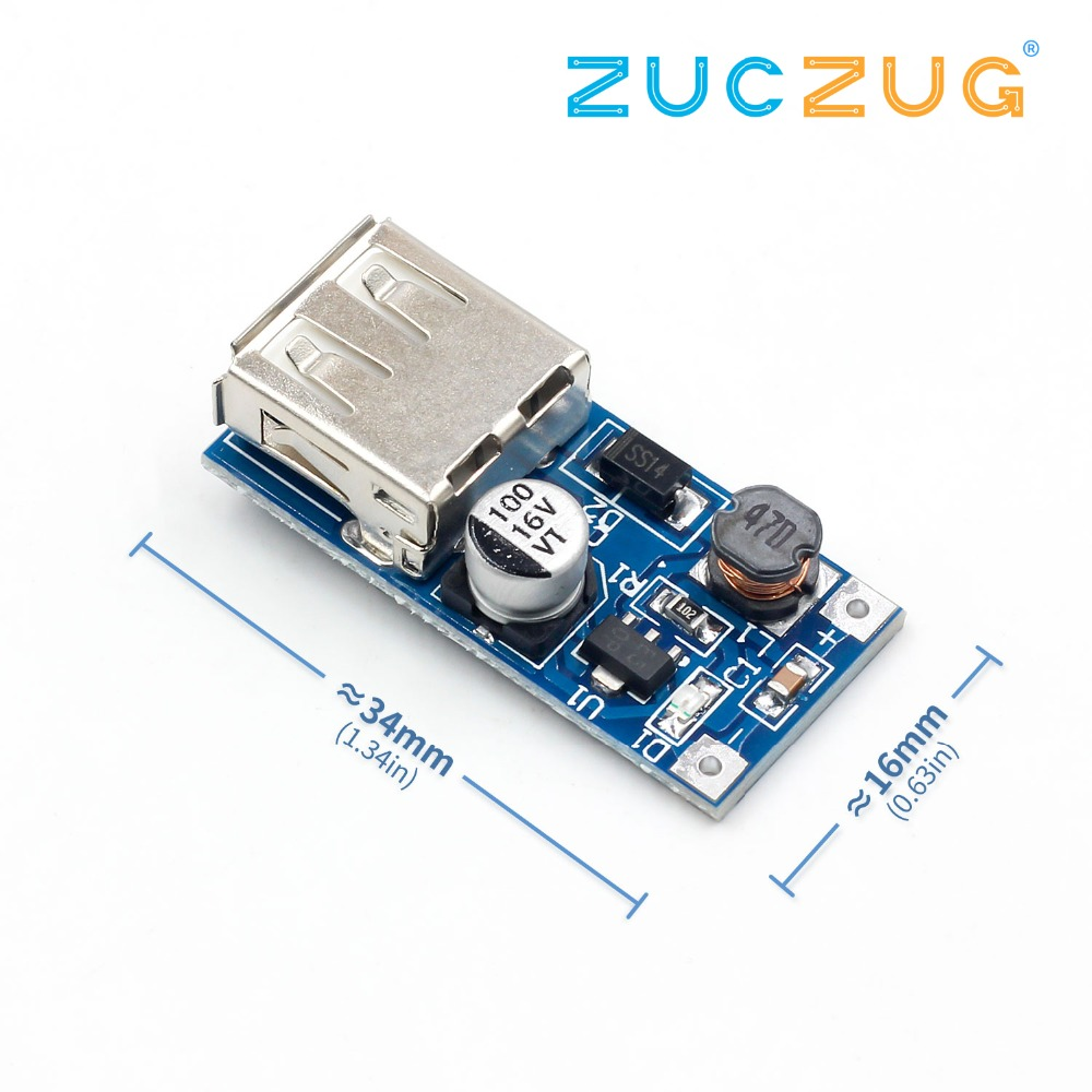 DC DC 0.9V-5V To 5V 600MA Power Bank Charger Step Up Boost Converter Supply Voltage Module USB Output Charging Circuit Board