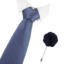 7.5cm Green Blue Ties for Men Formal Business Suit Wedding Party Gravatas Get A Free Brooches Silk Tie Floral Neck