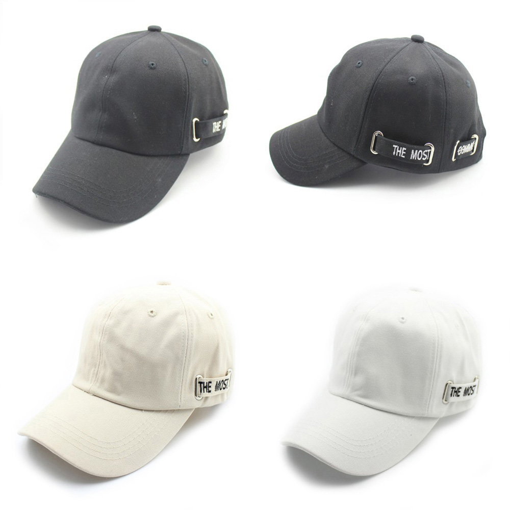 Women Men Hip Hop Bboy Kpop Snapback Baseball Cap Embroidery Letter Belt Sport Dancing Sport Sun Hat Dad Caps Adjustable in Men 39 s Baseball Caps from Apparel Accessories