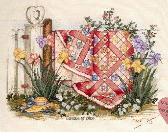 Fishxx Cross Stitch C051 scenery garden of Eden rural boudoir decoration 14CT Need to embroidery