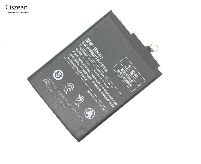 Ciszean 40/Bn40 Replacement-Battery Phone Xiaomi Redmi For Hongmi-Redrice 4-Pro Prime