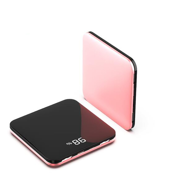 wireless Mini Power Bank 8000mah Thin Mirror Screen 2.1A Fast Charging wireless Portable Charger Powerbank  for iphone xiaomi 5