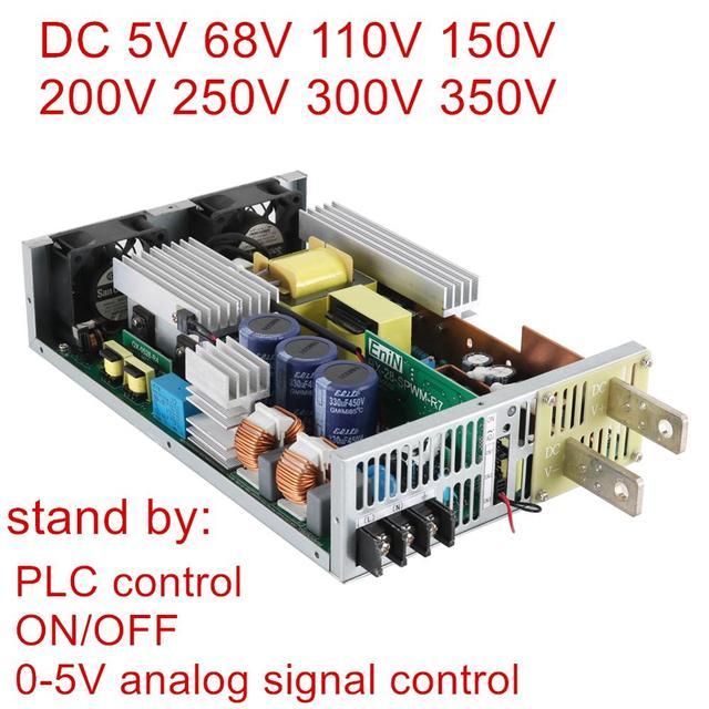 DC 68V 110V 150V 200V 250V 300V 350V Switching Power Supply 0 5v analog signal control Source Transformer ac dc PLC control