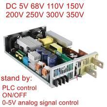 Dc nova 68v 110v 150v 200v 250v 300v 350v fonte de alimentação de comutação 0-5v transformador analógico ac-dc plc 0.5v da fonte de controle de sinal-nv