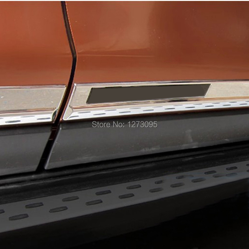 ABS Chrome Door Body Side Molding Trim Cover for Nissan X-Trail X Trial XTrail T32 2014 2015 2016 2017 Car Styling Accessories abs chrome exterior side door body molding streamer cover trim for bmw x3 f25 2011 2012 2013 2014 2015 car styling accessories