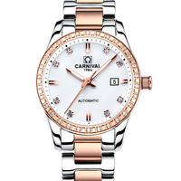 Montre femme 2018 CARNIVAL Automatic Watch Women Calendar Fashion Women Watches Luminous Waterproof Sapphire Relogio feminino