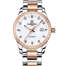 Montre femme 2018 CARNIVAL Automatic Watch Women Calendar Fa