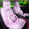 2016 tampas de assento do carro de luxo mulheres rendas decoração frente traseira e acessórios conjunto completo para bmw para lexus gx470 1113
