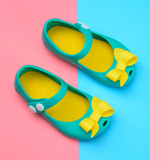 Melissa New Mini Girls sandals Butterfly Jelly Shoes Butterfly Knot Shoes Crystal Jelly Sandals Children Shoes Fish Head Shoes in Sandals from Mother Kids