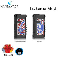 new color Original Vandy Vape Jackaroo Mod 100W Waterproof box mod compatible with single 21700/18650 battery for Jackaroo kit
