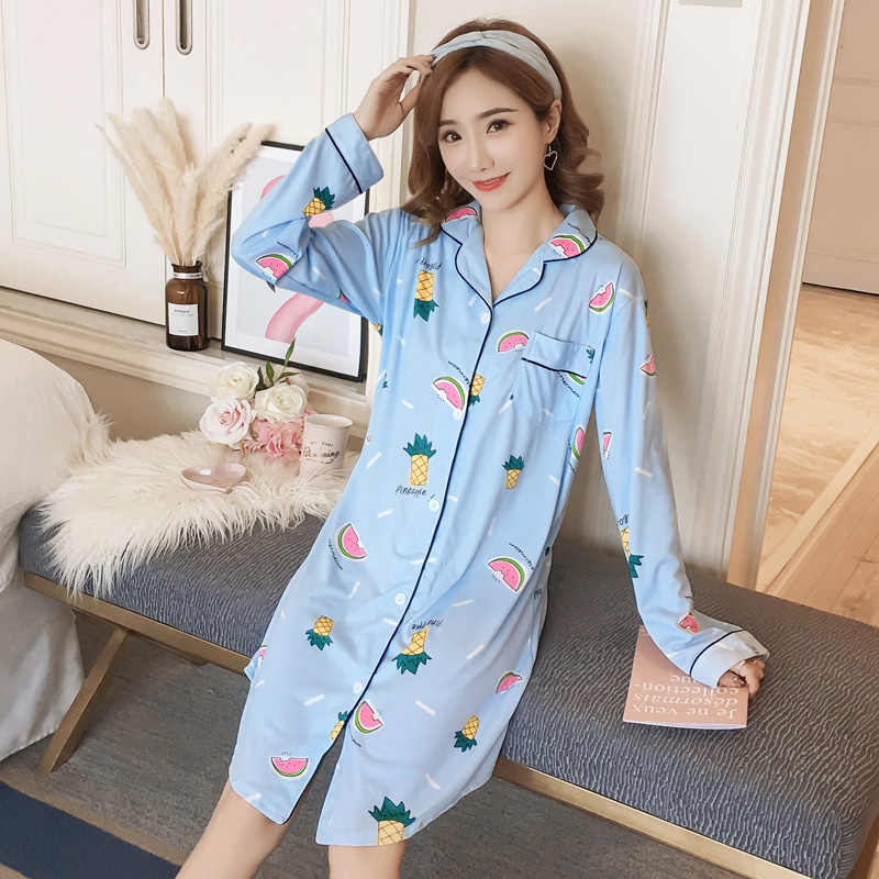 Good Quality Autumn Winter Warm Cotton Nightgown Home Wear Lovely Nightgowns  for Women Girl Sleepwear Nightgown c69ca1f06
