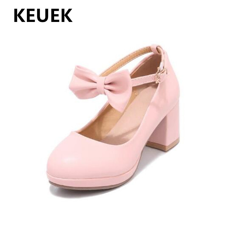 New Children Leather Shoes High-heeled Performance Girls Fashion Party Shoes Princess Bow Dress Student Dance Shoes Kids 019