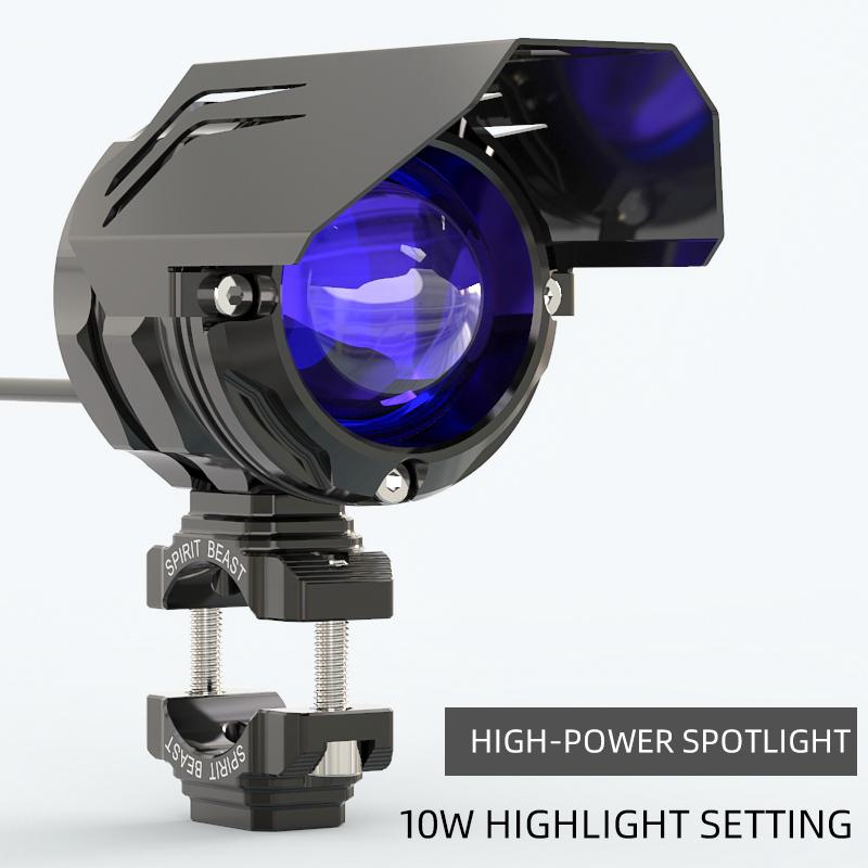 Spirit beast motocross LED spotlight motorcycle accessories 10W  high brightness car lights external flashing auxiliary lights