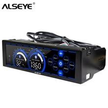 ALSEYE a 100L(B) 12V вентилятор контроллер для вентилятора для управления компьютером сенсорный экран 6 каналов управления скоростью вентилятора для 3pin 4pin охлаждения Вентиляторы