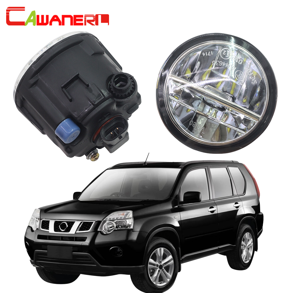 Cawanerl For Nissan X-Trail T31 Closed Off-Road Vehicle 2007-2013 Car LED Fog Light 4000LM 6000K DRL Daytime Running Lamp 12V