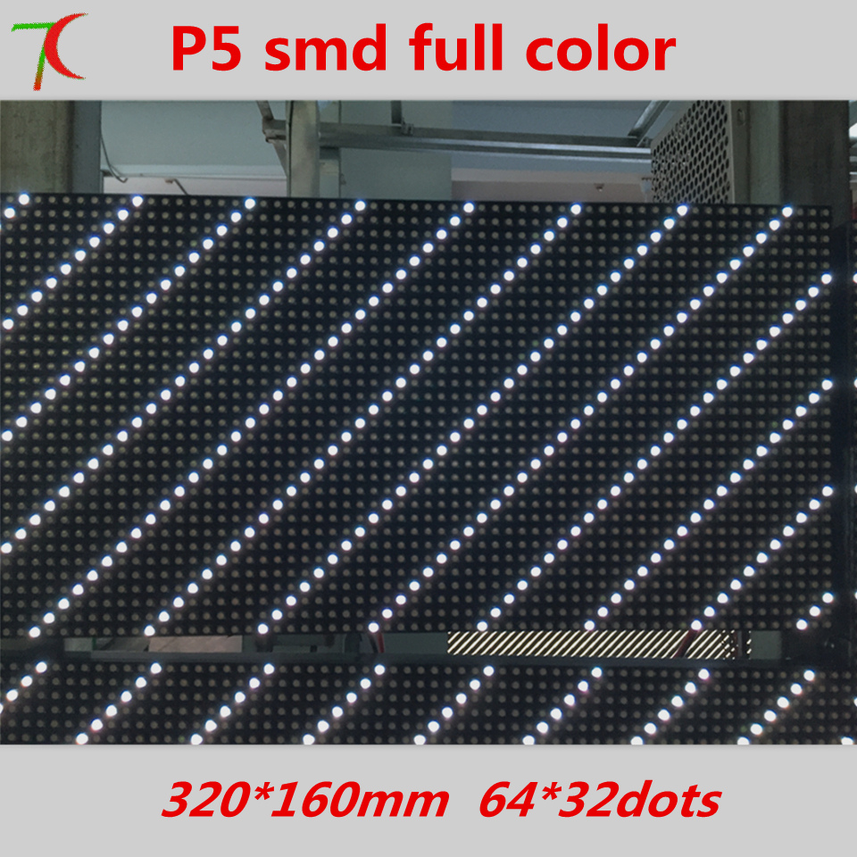 Watch P5 install for video screen ,1/16 scan SMD3528 full color 320mm*160mm 64*32 pixels 40000dots/m2