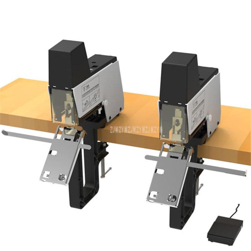 цена на Flat/Saddle Binding Electric Double Stapler Machine For Universal 6mm 8mm Staples Binder Paper Book Bind Machine ST-100G 1600W