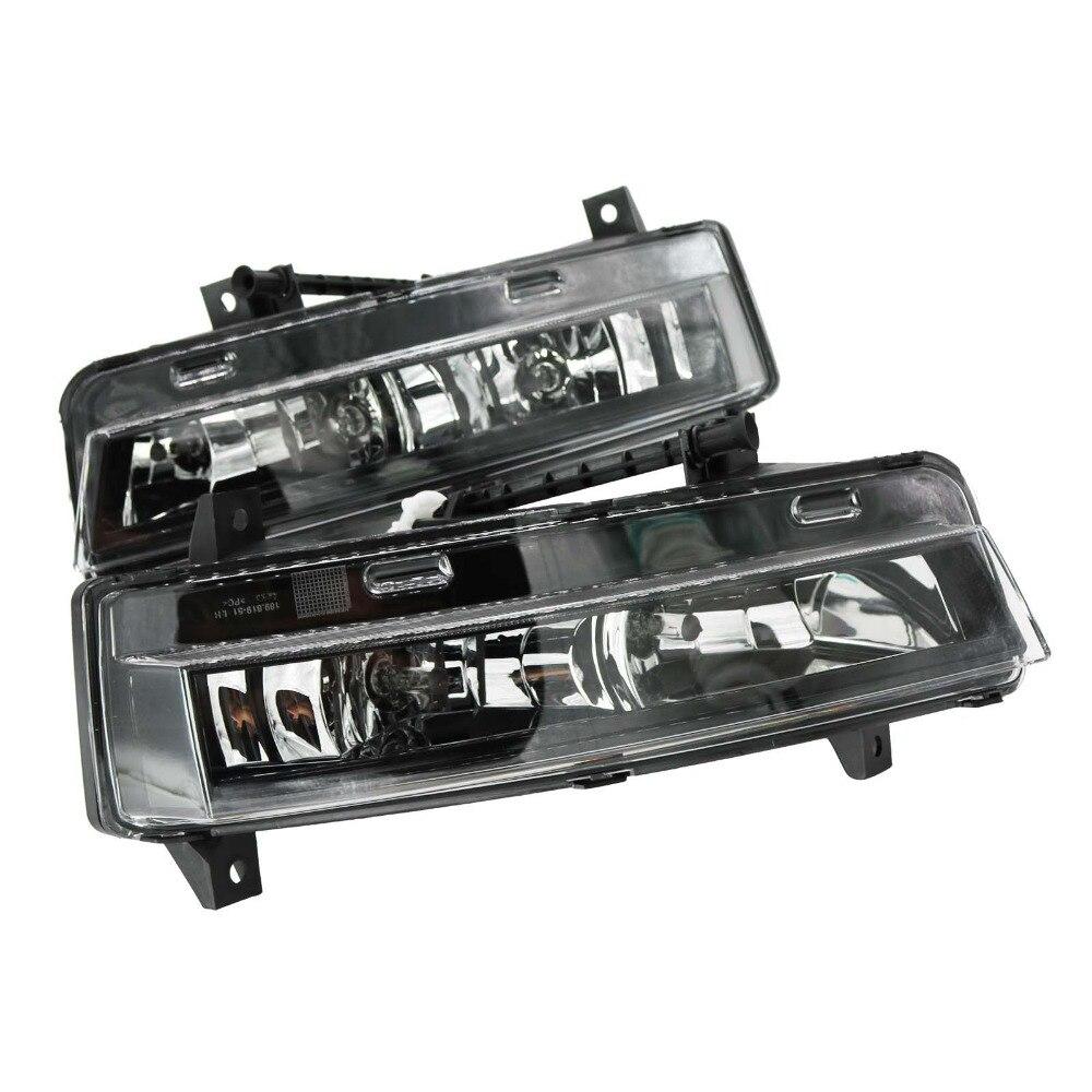 2Pcs For Skoda Octavia A7 Sedan RS Combi RS 2013 2014 2015 2016 2017 Front DRL Daytime Running Light Fog Lamp Fog Light