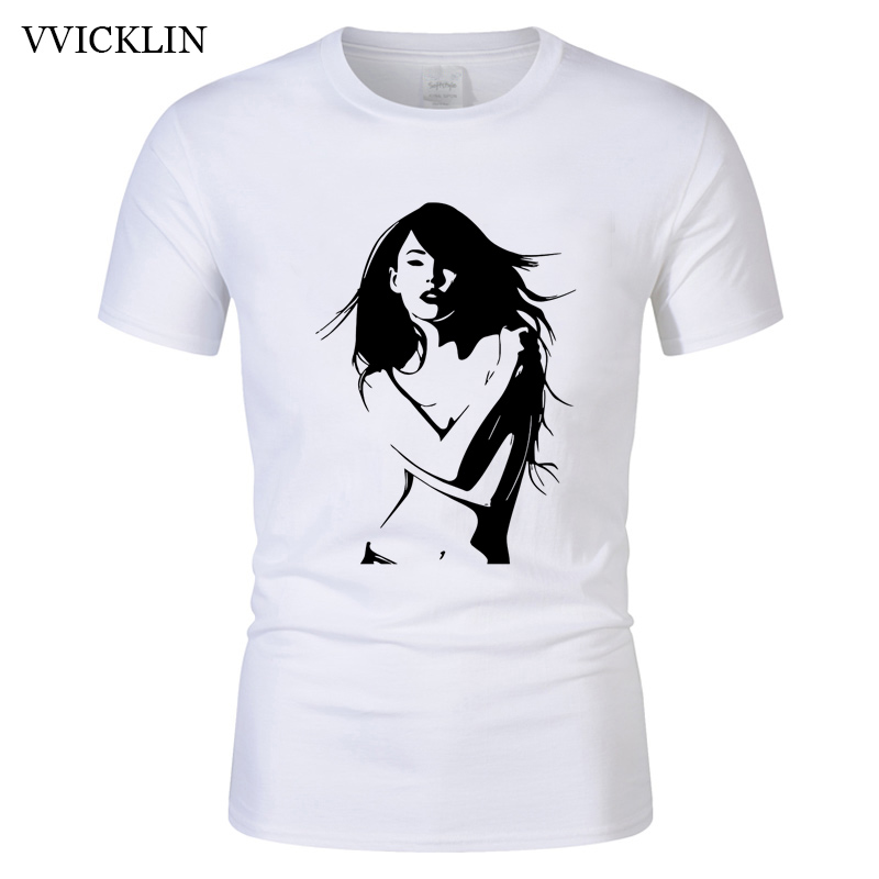 2018 lovely woman pattern Printed T Shirt Men Wome Hip Hop short sleeve T-shirts Fashion Cotton casual T Shirts