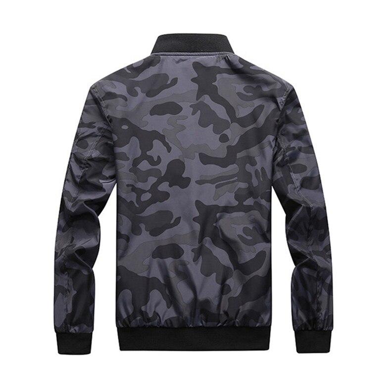 7XL Jackets Men 2019 Camouflage Jacket Male Coats Camo Bomber Mens Jacket Brand Cloth Outwear Baseball Collar Plus Size 5XL 6XL 11