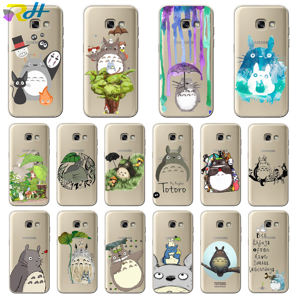 Soft TPU Cover for Samsung Galaxy A7 <font><b>2018</b></font> Coque Etui Cute Totoro for Samsung Galaxy A10 20 30 40 50 <font><b>70</b></font> A6 A8 Plus <font><b>2018</b></font> Case image
