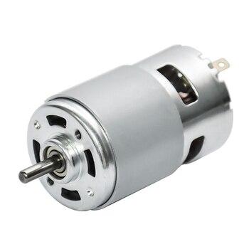 Wrzeciono elektryczne DC do wiertarki 12V 5500 obr./min silniki z wysokim momentem obrotowym szczotki węglowe Rs 775 kosiarka do trawy z łożyskiem kulkowym