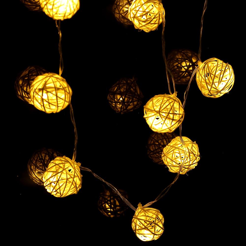 등불 공 펜 던 트 문자열 Led 조명 20 LED 따뜻한 흰색 - 휴일 조명 - 사진 4