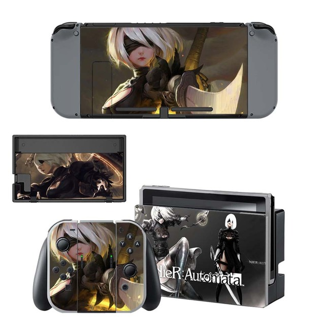 NieR:Automata Sticker - Vinyl Skin for Nintend Switch Skins Set for NS Console and Joy-con Controller 1