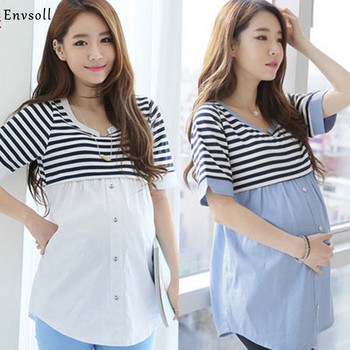 Breastfeeding Blouses Feeding Cotton Maternity Pregnancy Tops Nursing Shirts Maternity Clothes for Pregnant Women dress happy easter brand maternity clothes breast feeding dress for pregnant women high quality pregnancy nursing dress nice vestidos