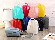 Модные женские прозрачные прекрасный ярких цветов Рюкзак маленькая девочка пакет Дети Студент Школьный рюкзак kawali Лолита ПВХ сумка
