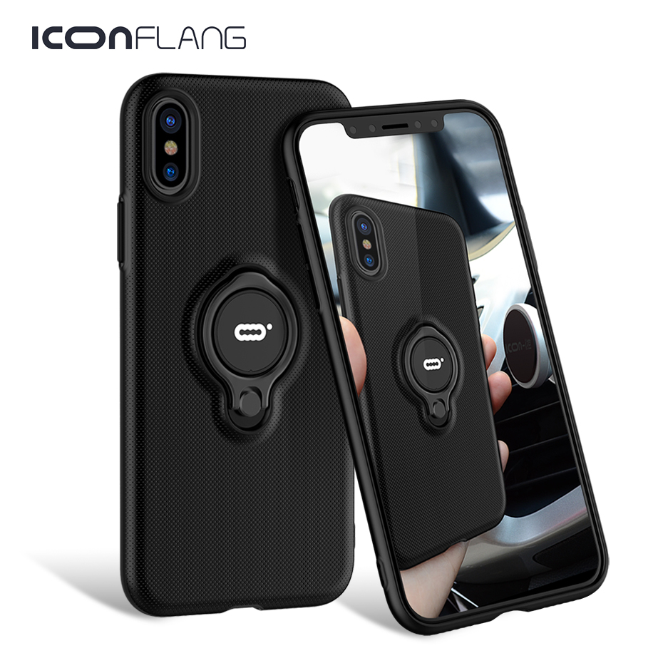 Case For iPhone XS XS Max XR 2018 Magnetic Finger Ring Holde