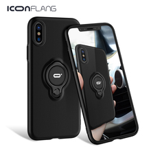 Case For iPhone XS XS Max XR 2018 Magnetic Finger Ring Holder Cases Hard PC Back