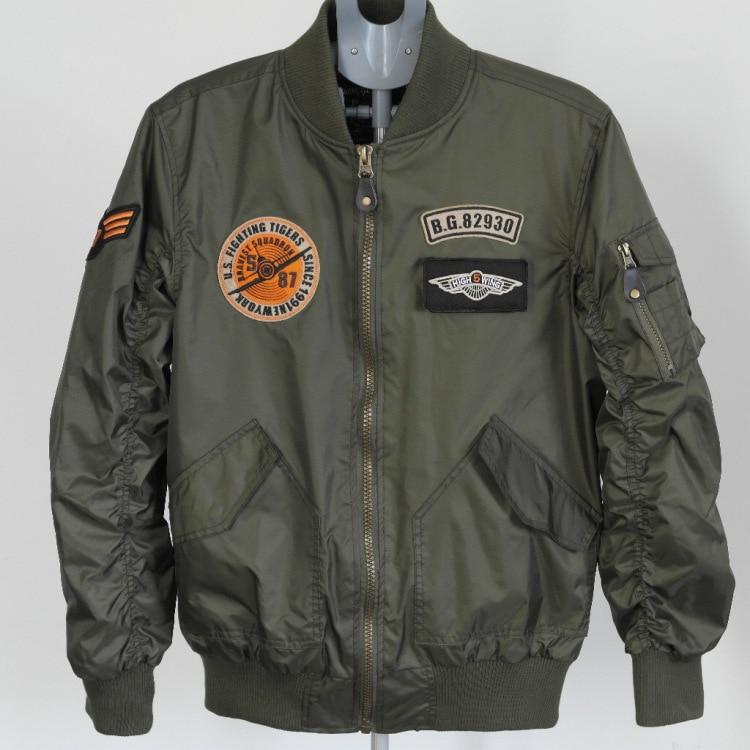 Mens U.S Army Military Classic Bomber Flight Jacket Pilot jacket ...