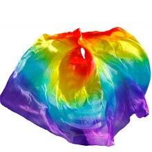 Дизайнерская вуаль для танца живота из натурального шелка, дешевые вуали для танцев, вуаль для танцев tari perut kostum, 250 270*114 см, радужные цвета