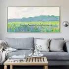Картина на холсте, акриловая живопись, настенные художественные картины для гостиной, домашний декор, современный абстрактный цветок, квад...