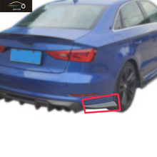 A3 S3 Rear Bumper Lip Diffuser Aprons Car Styling Carbon Fiber For Audi A3 S3 2015 2016