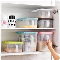 Kitchen Fruit Storage Box With Handle Refrigerator Cereals Organizer With Lid Plastic Box