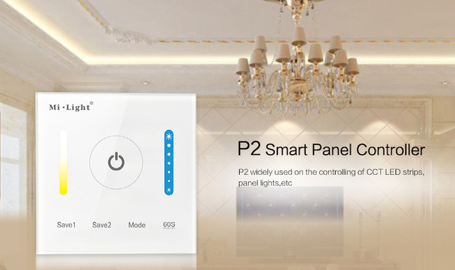 New Milight P2 Panel Led Controller Touch Switch Panel Brightness and color temperature Led Dimmer for Led Strip, Panel Lights