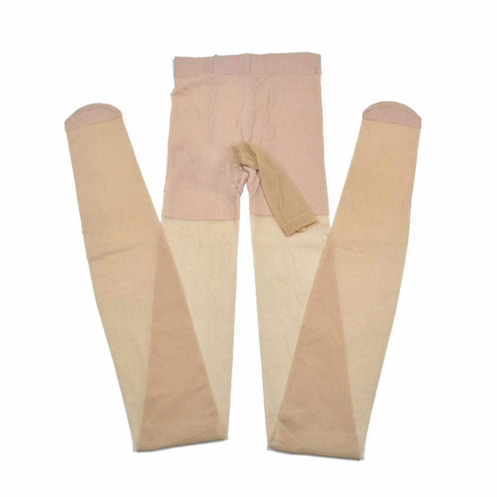 Open Penis Pouch Sheath Tights Hot Sexy Pantyhose With Condom Women Fetish Wear Collant Femme Transparent Medias