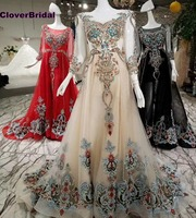 CloverBridal Красный Черный Свет Шампанское Роскошные Потрясающие Стразы драгоценный камень дрель индийские платья A Line три четверти