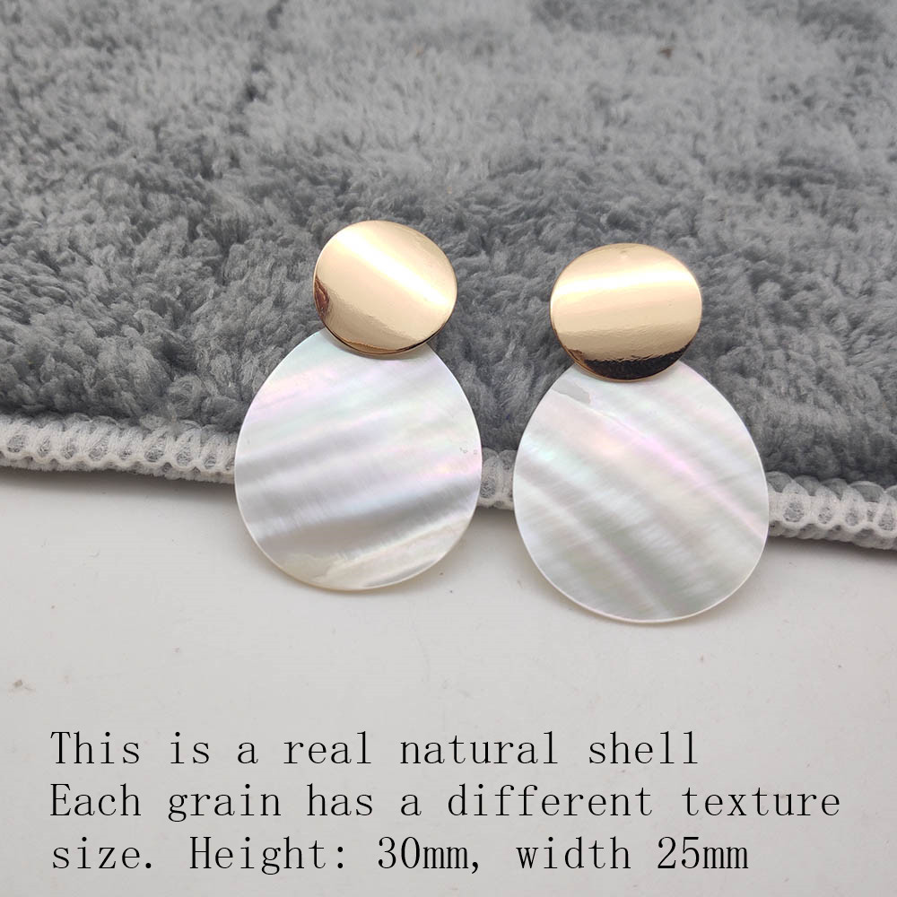 Fashion Wedding Jewelry Hanging Natural Shell Pearl Geometric Earrings High Quality Natural Shell Pendant Earrings for women P40 35