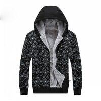 2018 Winter Jacket Brand Men's Fleece Warm Hooded Coats Men's Windbreaker Casual Hoodies Male Outerwear Plus Size 6XL 7XL 8XL